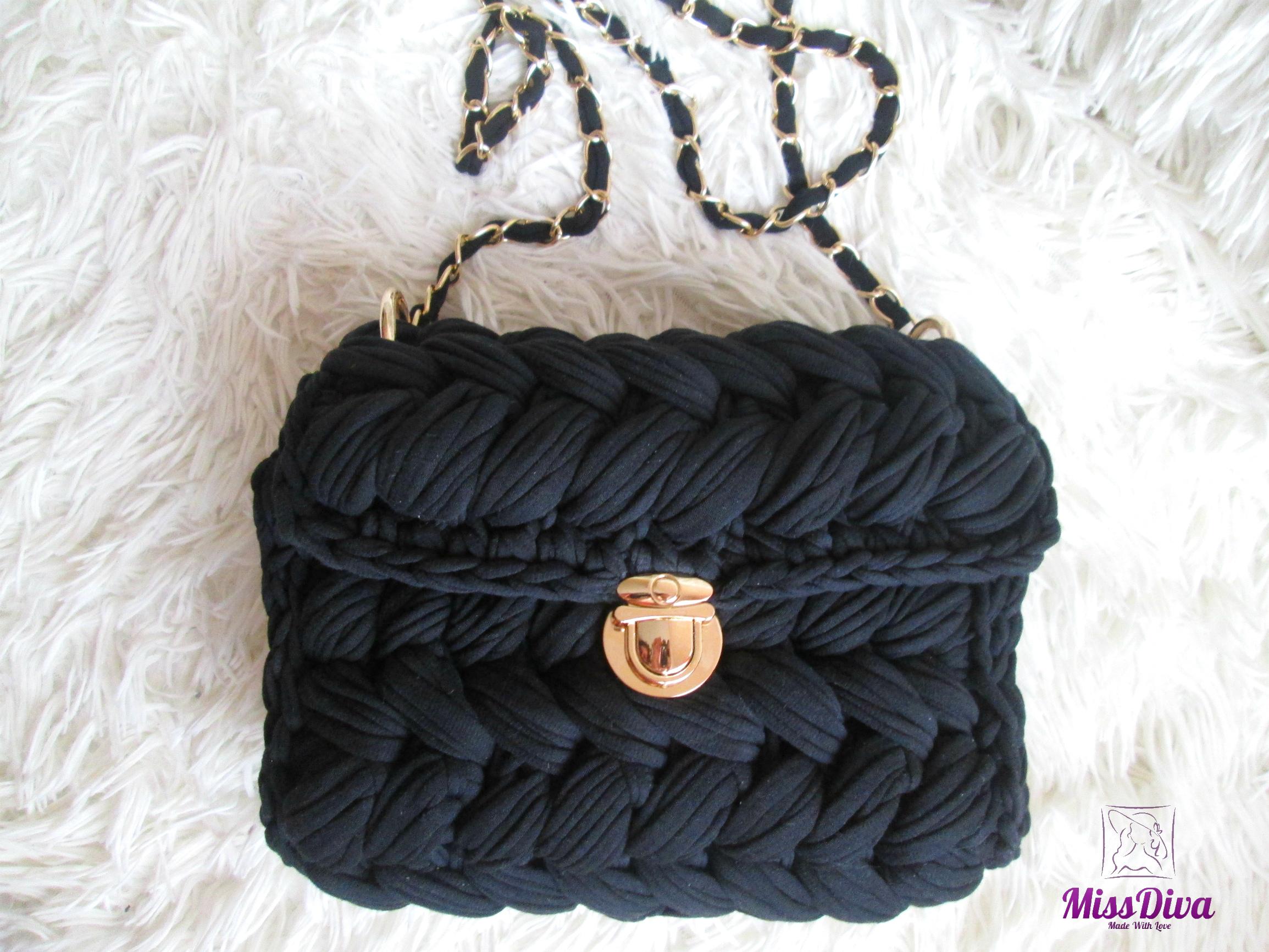вязаная сумка кросс боди зефирка Missdiva